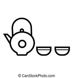 teáskanna, csésze icon