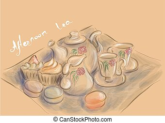 tea, délután, fél