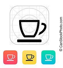tea, icon., üres, csésze