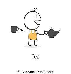 tea, pasas, iszik
