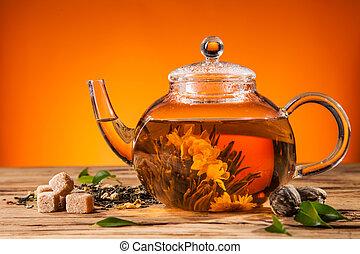 tea, virágzó