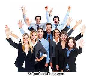 team., boldog, ügy emberek