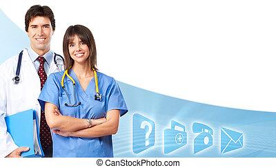 team., orvosok