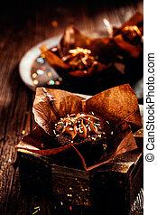 teasütemény, csokoládé