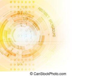 technológia, elvont, vektor, jövő, háttér