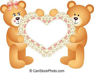 teddy-mackó, párosít, hord