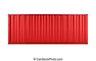 teherárú tároló, elszigetelt, piros