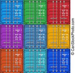 teherárú tároló, szín