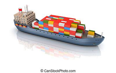 teherhajó, elszigetelt