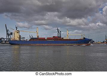 teherhajó, hajózás, tároló