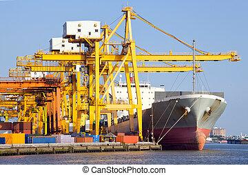 teherhajó, ipari, rév