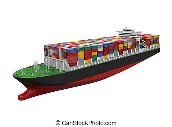teherhajó, konténer, elszigetelt