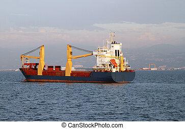 teherhajó, vitorlázás, tenger
