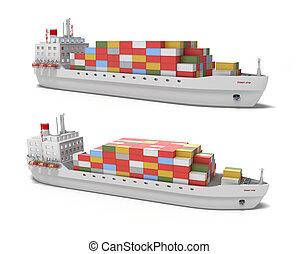 teherhajó, white háttér