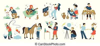 tehetség, hátaslovak, szabad, szakértelem, elfoglaltságok