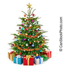 tehetség, színes, fa, buja, dobozok, friss, karácsony