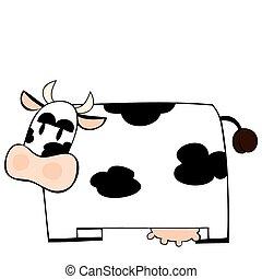 tejcsarnok, furcsa, cow.