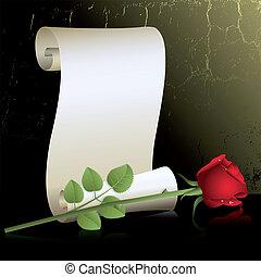 tekercs, rózsa