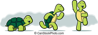 teknősbékára halászik, fehér, karikatúra, háttér