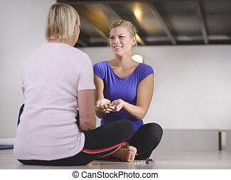 tele, nők, eldöntés, hely, fiatal, gyógyász, terápia, orvosság, client., hosszúság, jóslatok, választás, másol, fáj, reiki, gyógyulás