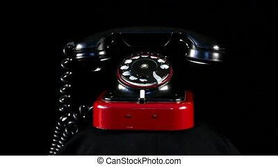 telefon, bukfenc, retro