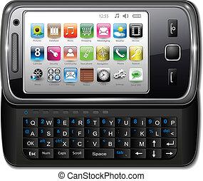 telefon, smartphone, mozgatható