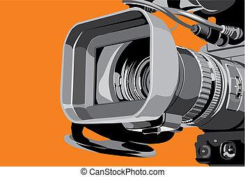televízió fényképezőgép, műterem