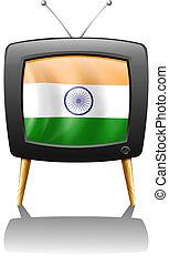 televízió, india lobogó