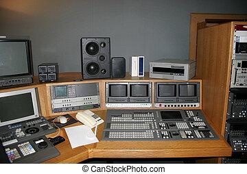 televízió studio, erkély