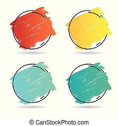 teljes, állhatatos, grunge, főcím, poszter, felett, struktúra, festék, ütés, tervezés, ecset, vector., jel, akril, transzparens, keret