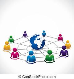 teljes összeköttetés, világ, mindenfelé