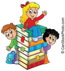 tematikus, kép, gyerekek, 4