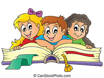 tematikus, kép, gyerekek, 5