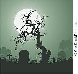 temető, dead fa, mindenszentek napjának előestéje, kísérteties