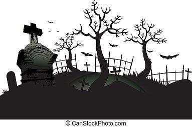 temető, háttér