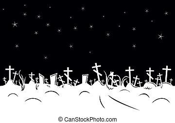 temető, határ, negatív