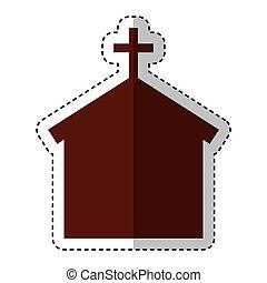 templom, árnykép, elszigetelt, ikon