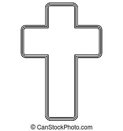 templom áthalad, ikon