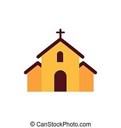 templom áthalad, tervezés, vektor, elszigetelt
