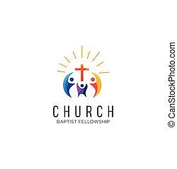 templom, család, részvény, ihlet, jel, vektor, közösség, tervezés, fehér, ikon, színes, háttér