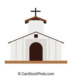 templom, elszigetelt, épület