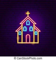 templom, neonreklám
