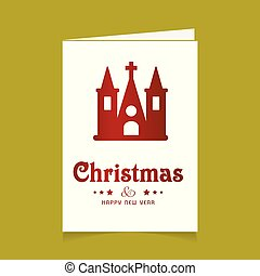 templom, tervezés, karácsonyi üdvözlőlap