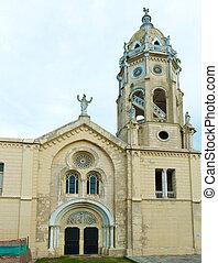 templom, város, casco, panama viejo