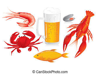 tenger gyümölcsei, falatozás, -, söröskorsó