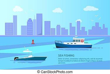 tenger, hosszú, lesiklik, halászat, autózik hajózik, egyenes