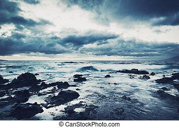tenger, megrohamoz, óceán