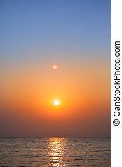 tenger, napkelte