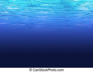 tenger, világos, -, mélyvíz, háttér