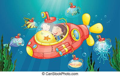 tengeralattjáró, kaland